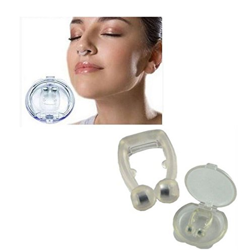 widome Transparent U-Tape Unisex Stop Snoring Anti Snore Free Sleep Silicone Magnetic Nose Clip with a Case