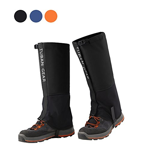 Tuban Hiking Gaiters Snow Gaiters Waterproof Boot Gaiters Reinforced TPU Strap Breathable 500D Nylon