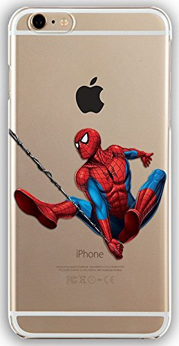 Silicone Gel Cover Case with Spiderman design for Iphone 6 6s (4.7in) (spider02s)