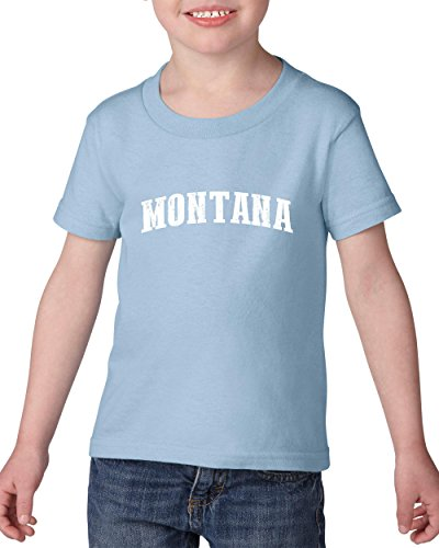 Ugo MT Montana Flag Billings Map Bobcats Grizzlies Home University of Montana Heavy Cotton Toddler Kids T-Shirt Tee - Billings Montana Stores