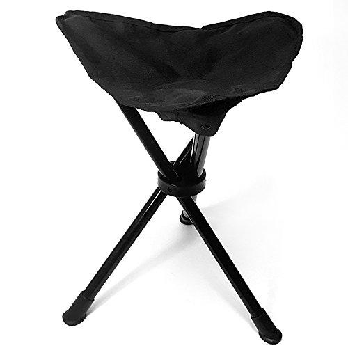 DiKoMo Portable Tripod Stool Folding Tri-leg Camping Slacker Chair Lightweight Foot Rest Seat for Camping Fishing Hiking Hunting