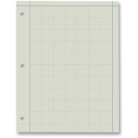 22144 Ampad Green Tint Engineer's Quadrille Pad - 200 Sheets - 15 lb Basis Weight - Letter 8.50