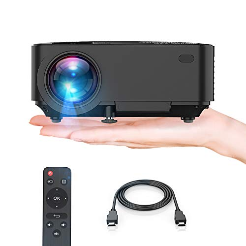 - Projector, Upgraded TENKER Projector, 60% Brighter, Mini Home Theater Movie Projector 4.0