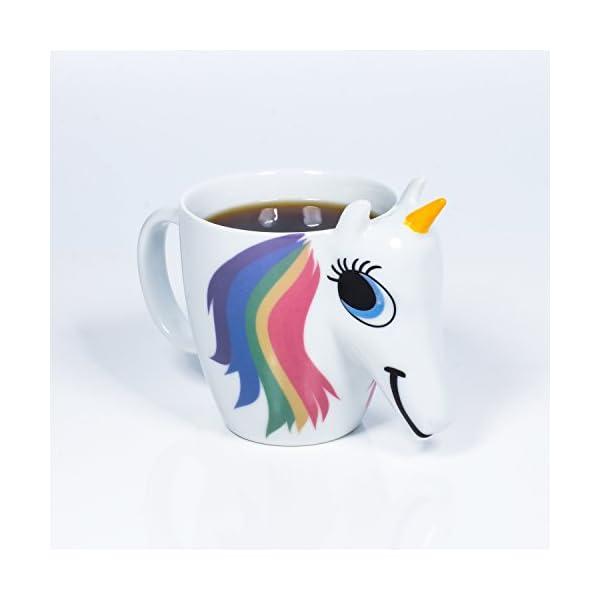 Thumbs Up UK Unicorn Color Changing 10 oz Ceramic Coffee Mug 7