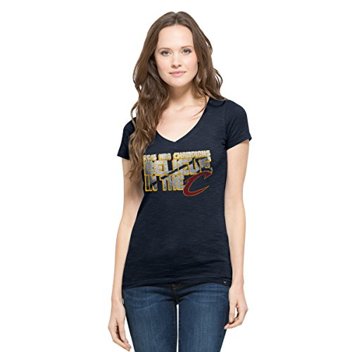 NBA Cleveland Cavaliers Women's 2016 Champions '47 V-Neck Scrum Tee, Large, Fall Navy