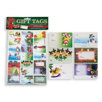 DDI 100 Holiday Gift Tags 72 Pack by DM Merchandising