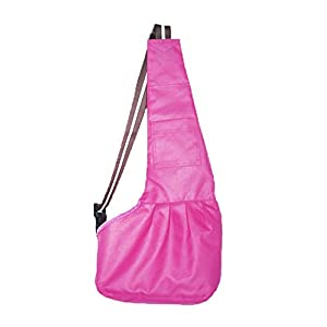 Prettysell Pet Dog Puppy Cat Carrier Bag Oxford Cloth Sling Single Shoulder Bag-Small,Pink