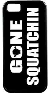 Rikki KnightTM Gone Squatchin on Black Black Tough-It Case Cover for iPhone 4 & 4s (Double Layer case with Silicone Protection)
