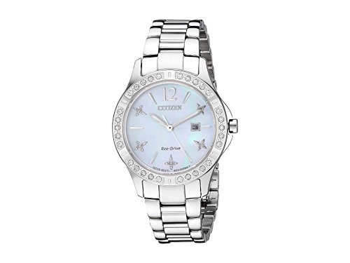 (Citizen Women's Eco-Drive Japanese-Quartz Watch with Stainless-Steel Strap, Silver (Model: EW2510-50D))