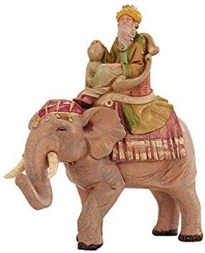 - Fontanini GASPAR ON ELEPHANT Figurine 5 Inch Series