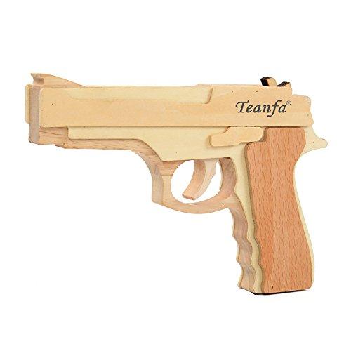 Wooden Toy Guns (Teanfa Fashion Model Toy Band Gun Wooden Toy Gun)