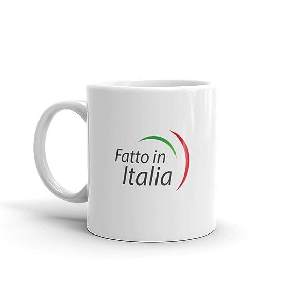 Amazon.com: Taza de cerámica con diseño de Fatto Italia con ...