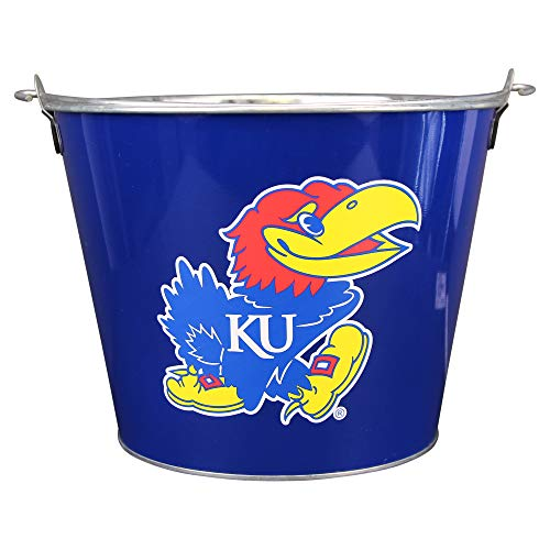 (NCAA Full Color Team Logo Aluminum Beer and Ice Bucket (Kansas)