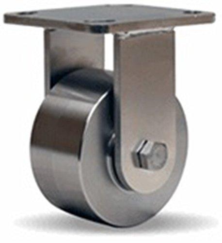 4'' Hamilton Stainless Steel Rigid Caster, 850 lb. Capacity