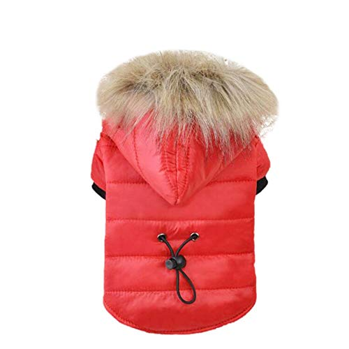 Olwen Shop Dog Coats & Jackets - Pet Dog Coat Winter Warm Small Dog Clothes for Chihuahua Soft Fur Hood Puppy Jacket Clothing for Chihuahua Small Large Dogs 1 PCs