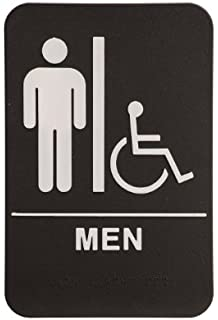 rock ridge men restroom sign blackwhite ada compliant