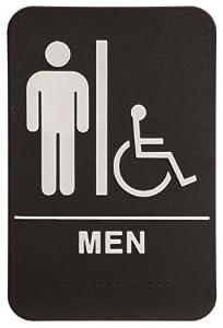 mens bathroom sign. rock ridge men restroom sign blackwhite ada compliant mens bathroom