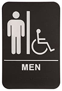 Marvelous Rock Ridge Men Restroom Sign Black/White   ADA Compliant