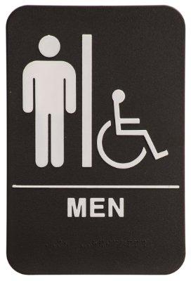 restroom signs.  Restroom Men Restroom Sign BlackWhite  ADA Compliant 1 And Signs O