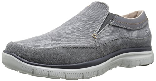 Skechers USA Mens Hinton Olmos Slip-On Loafer Charcoal vV0fmCl