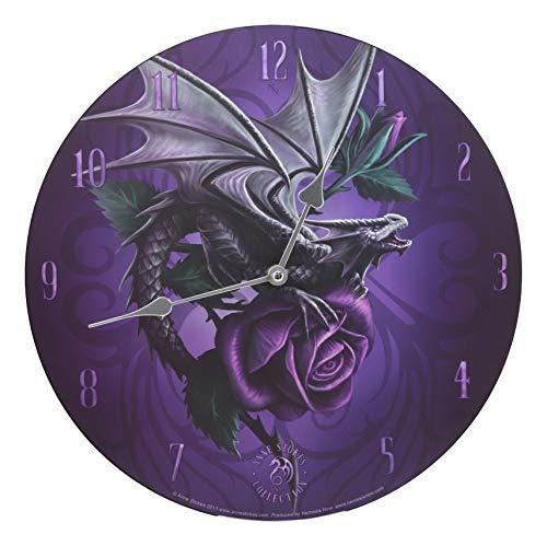 (Ebros Dragon Beauty Purple Rose Lilac Round Wall Clock 13.25
