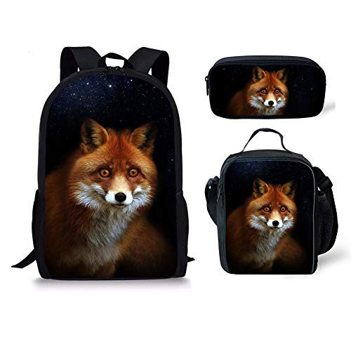 Moyen Noir 1 Fox Cartable Chaqlin 3pcs Fox 1 q8zAaxwPf