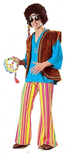 Popcandy John Q Woodstock Hippie Costume 60s Hippie Costume 70s Hippie 15812