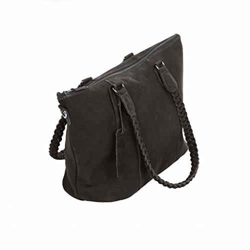 Chabo Bags, Borsa a spalla donna nero Black
