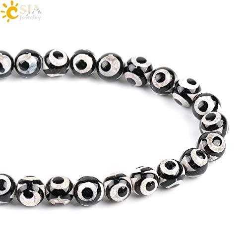 Tibetan Round Beads With New Design 2019, 8mm Round Tibetan Dzi Beads Natural Stone - Natural Stone Round Beads, Beads Natural Stone, Tibetan Gemstone Beads, Tibetan Natural Turquoise Beads (Wear Dzi Beads)