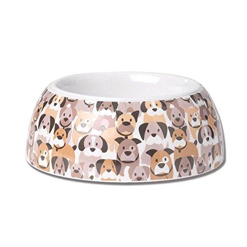 Dog Melamine Bowl (Pet Rageous 4 Cup Pooch Parade Non-Skid Melamine Bowl, 6