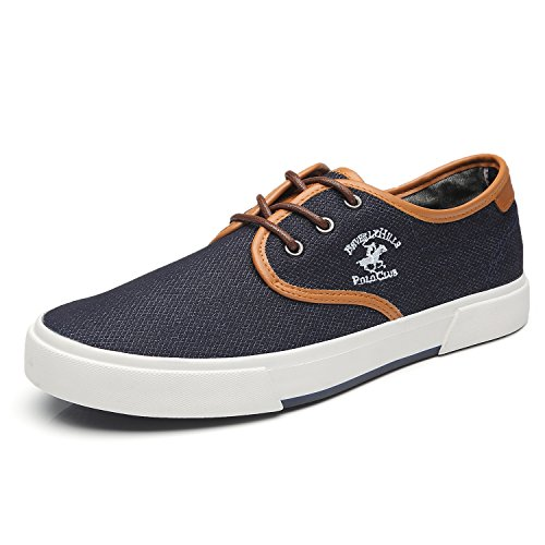 Beverly Hills Polo Club Men's Original Canvas Casual Skate Shoes Classic Low Top Lace Up Fashion Sneakers for Men