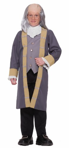 Forum Novelties Child's Ben Franklin Costume, Small - Benjamin Franklin Halloween Costume