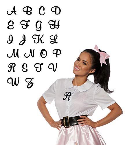 Retro Script Iron-On Monogram Letter (J)