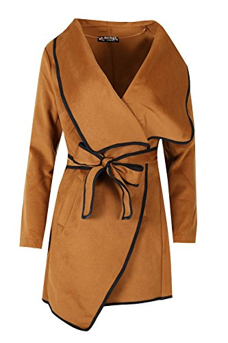 Oops Outlet Womens Ladies Italian Drape Contrast Belt Long Sleeve Baggy Oversize (Belted Cardigan Sweater)