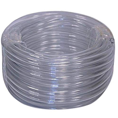 (Vinyl Tubing 100ft HVAC Clear Drain Hose 5/8in ID Water Tube AC Condensate Pump)