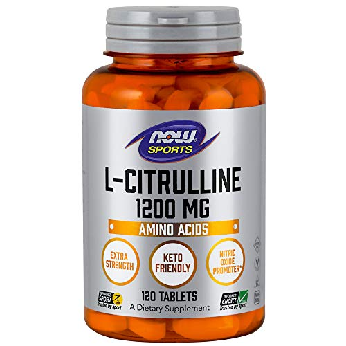 - NOW® L-Citrulline, 1200 mg, 120 Tabs