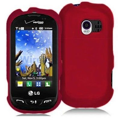Lg Extravert Vn271 Rubber - Hard Rubberized Case for LG Extravert VN271 - Red