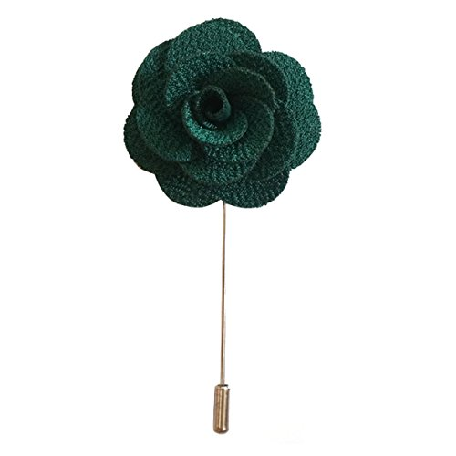 Sunny Home Men's Lapel Flower Stick Brooch Pin Boutonniere Pin for Suit Tuxedo Corsage (Blackish (Green Lapel Pins)