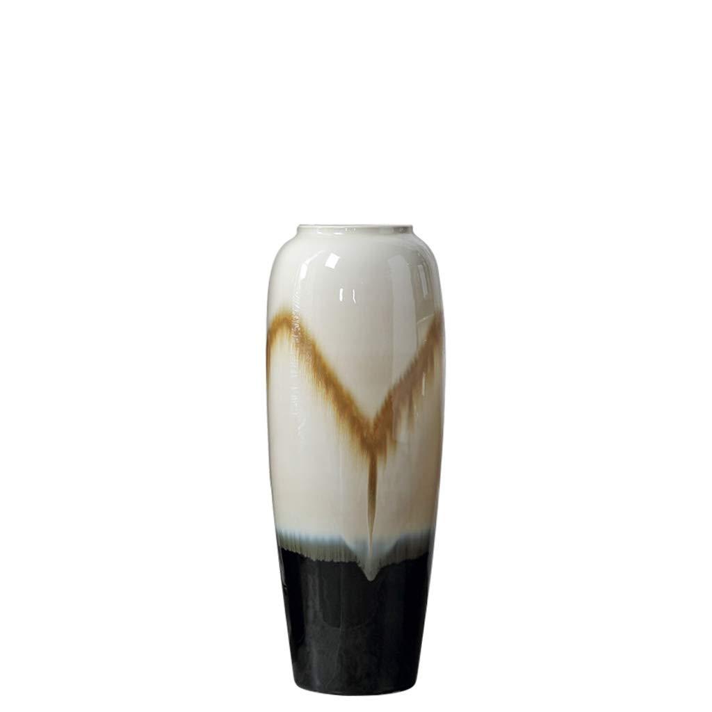 HBJP セラミック花瓶フロアスタンド大型花瓶ホームクラフト花瓶飾り 花瓶 (サイズ さいず : 12.5×57×21.5cm) B07S1L3T7S  12.5×57×21.5cm