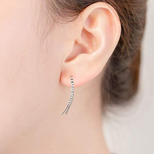 IRIS GEMMA Ear Cuff Earrngs, Hypoallergenic Cartilage Earring, Leaf Ear Crawler Earrings Plated with Platinum,Ear Climber Earrings,Ear Jacket for Women