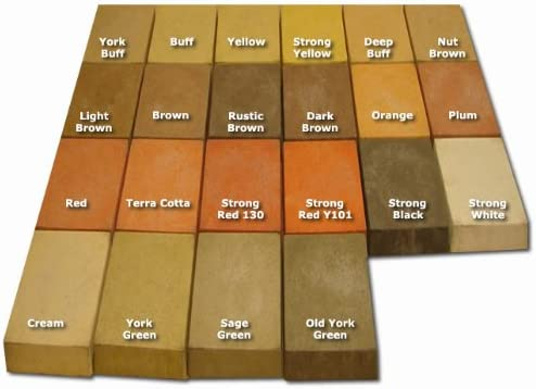 Mortar /& Cement YORK BUFF  Dye//Pigment for Concrete Render