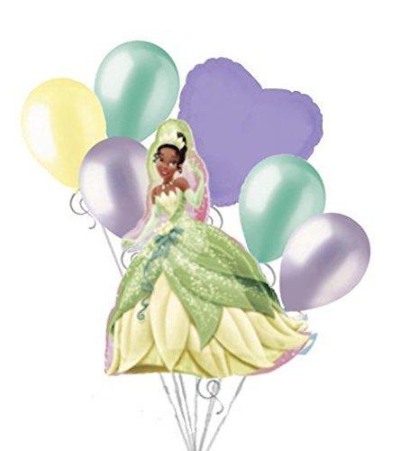 7 pc Princess & Frog Tiana Disney Princess Balloon Bouquet Happy Birthday Party