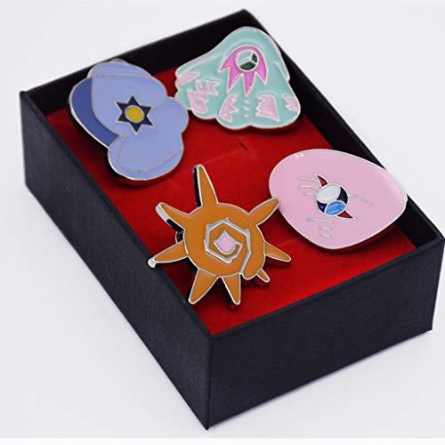Pokemon Gym Badges: Kanto Johto Hoenn Sinnoh Unova Kalos League Region Orange Islands Pins Brooches All New in Box Set Gift (Orange Islands Set)