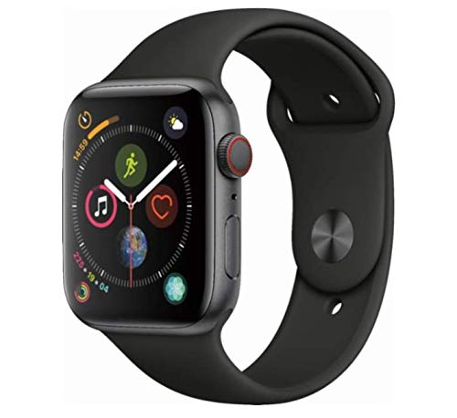 Apple (2018) Apple Watch Series 4 GPS + Cellular, 44mm Space Gray Aluminum Case with Black Sport Band