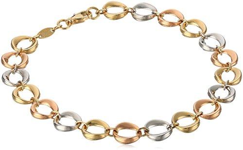 14k Tri Color Gold Link Bracel