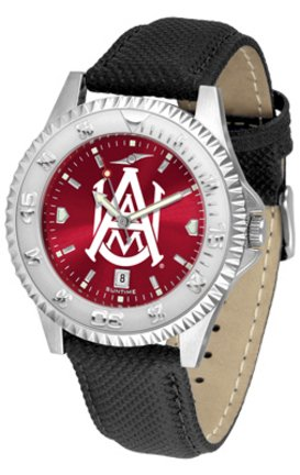 (SunTime Alabama A & M Bulldogs Competitor AnoChrome Men's Watch with Nylon/Leather Band)