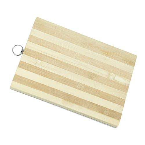 Bamboo Natural Cutting Board - Natural Bamboo Cutting Board 11.8 x 7.87 inches. 100% FREE Toxic Elements. Metal Ring For Easy Storage. Elegant & Reversible Design 2-in-1. Multifunctional: Cut, Chop & Serve. BBQ Grill, Cheese Board