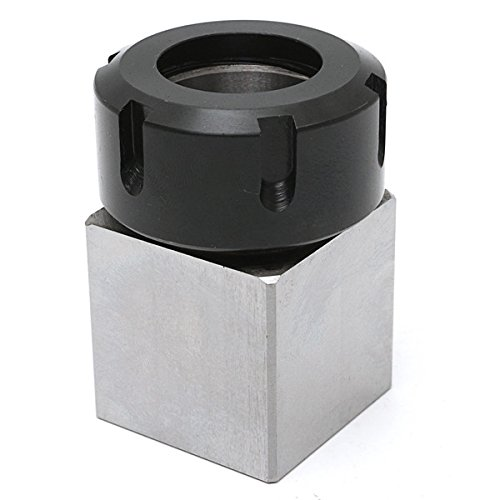 Hitommy Hard Steel Square ER-32 Collet Chuck Block CNC Lathe Tool Holder by Hitommy