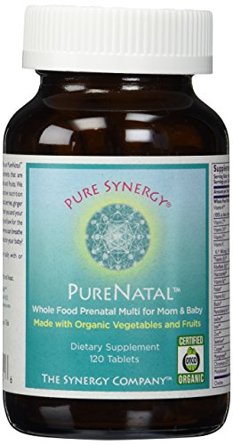 Pure Synergy PureNatal (120 Tablets) Prenatal Vitamin Made w/ Organic Fruits & Veggies, Gentle on Stomach - 41 2BwRMKObLL - Pure Synergy PureNatal (120 Tablets) Prenatal Vitamin Made w/ Organic Fruits & Veggies, Gentle on Stomach