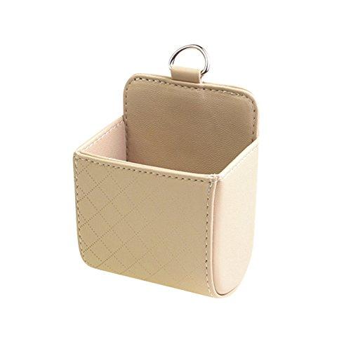 Pocket Organizer Pouch Bag Holder In-Car (Beige) - 4